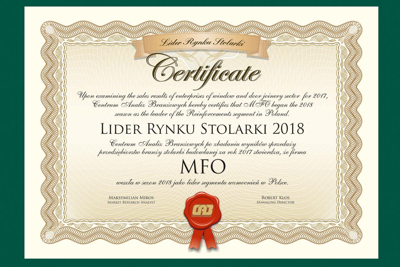 Lider Rynku Stolarki 2018