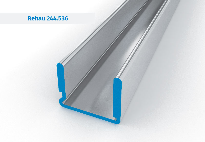 Galvanized profiles for reinforcement of UPVC