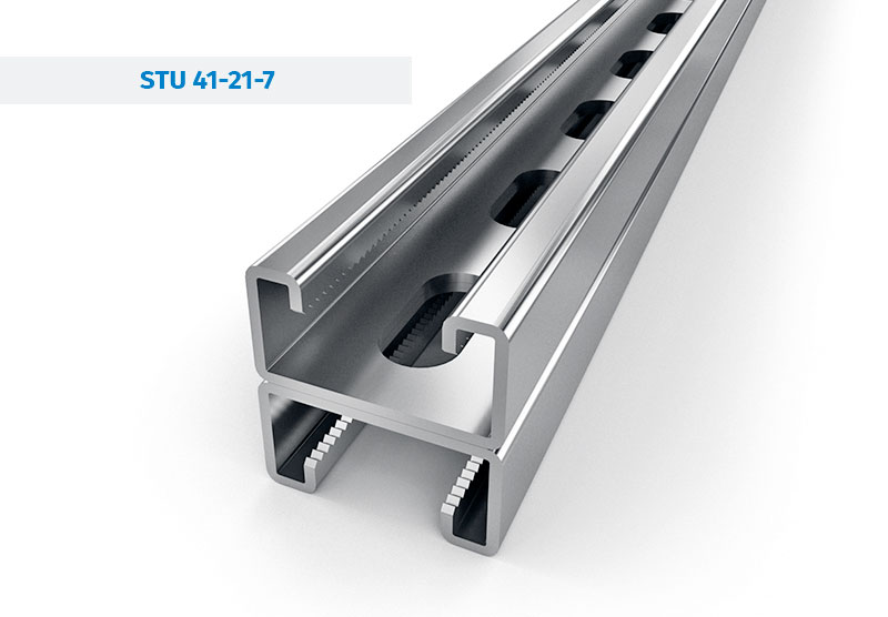 Galvanized steel Profiles Mounting rails - STRUT Channels