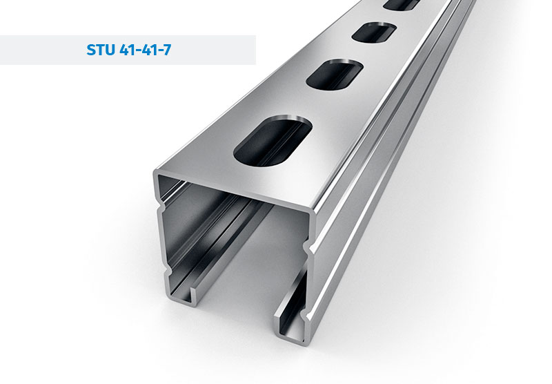 Steel Profiles and Mounting rails - STRUT STU-41-41-7
