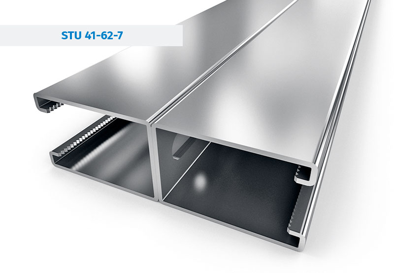 Steel Profiles and Mounting rails - STRUT Channels STU-41-62-7-DBL